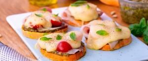 Recette tartine de patate douce au jambon cru et aux...